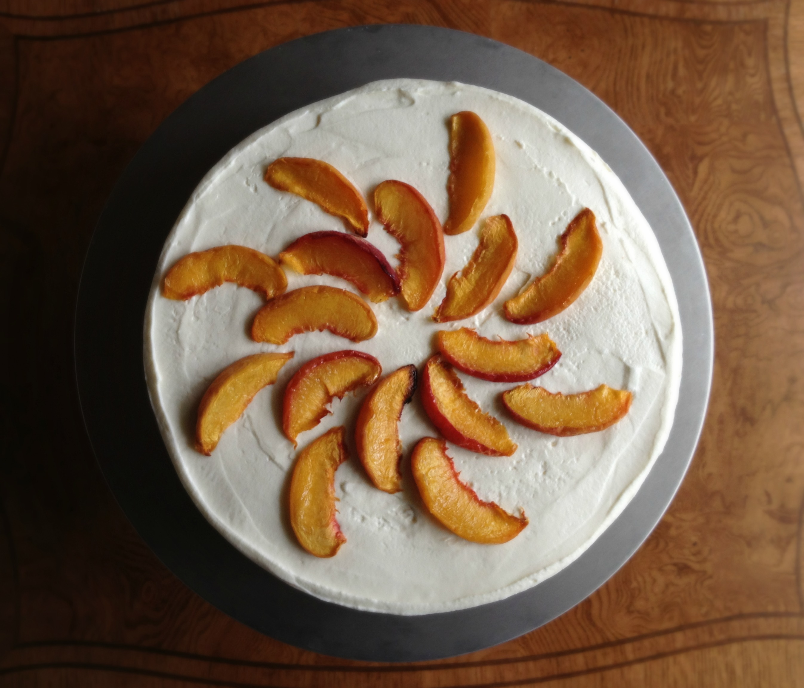 Ginger Cream Cake with Peach Caramel (aka Peaches and Cream Icebox ...