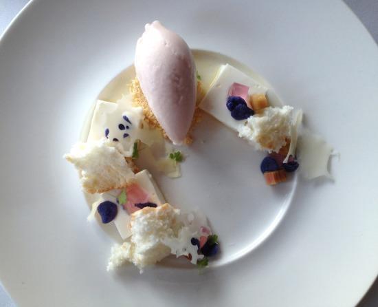 Rhubarb Panna Cotta
